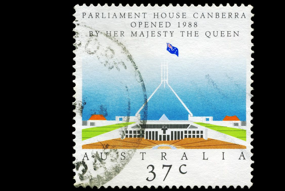 australian dollar canberra government concept