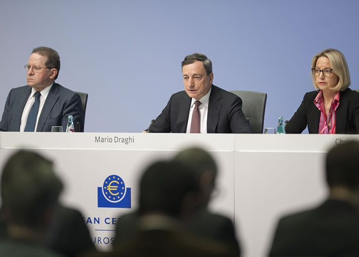 ECB Mario Draghi is main risk event today for Euro