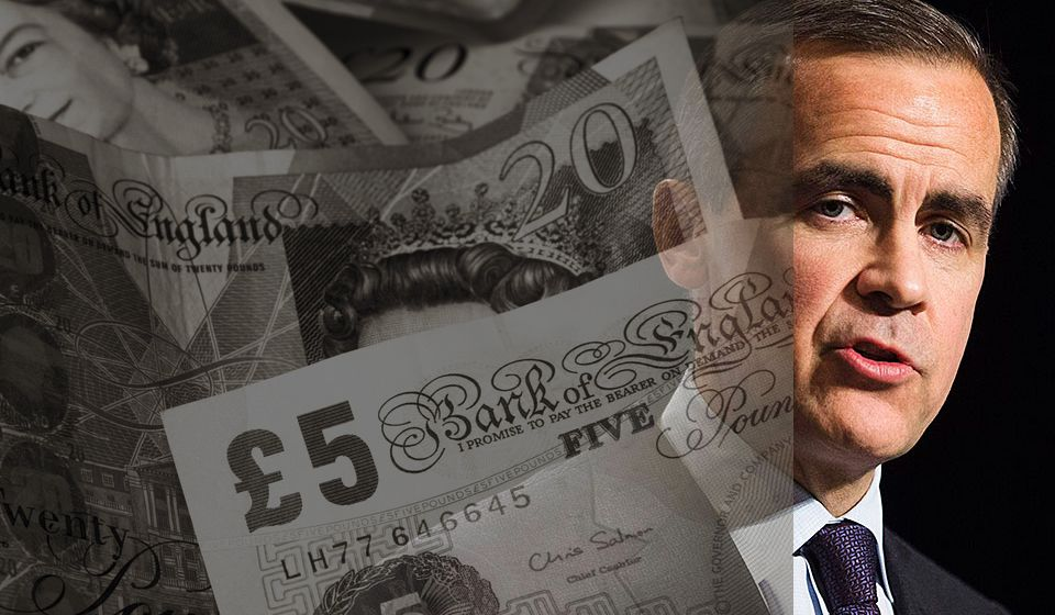 Bank of England and Mark Carney British Pound