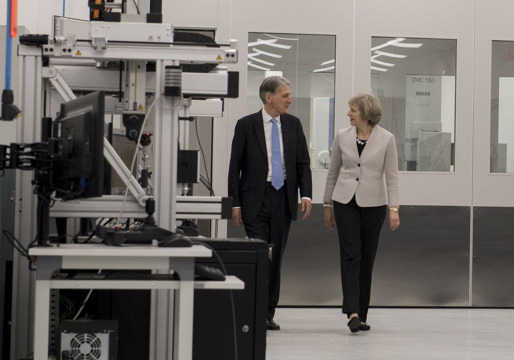Theresa May and Philip Hammond business rates