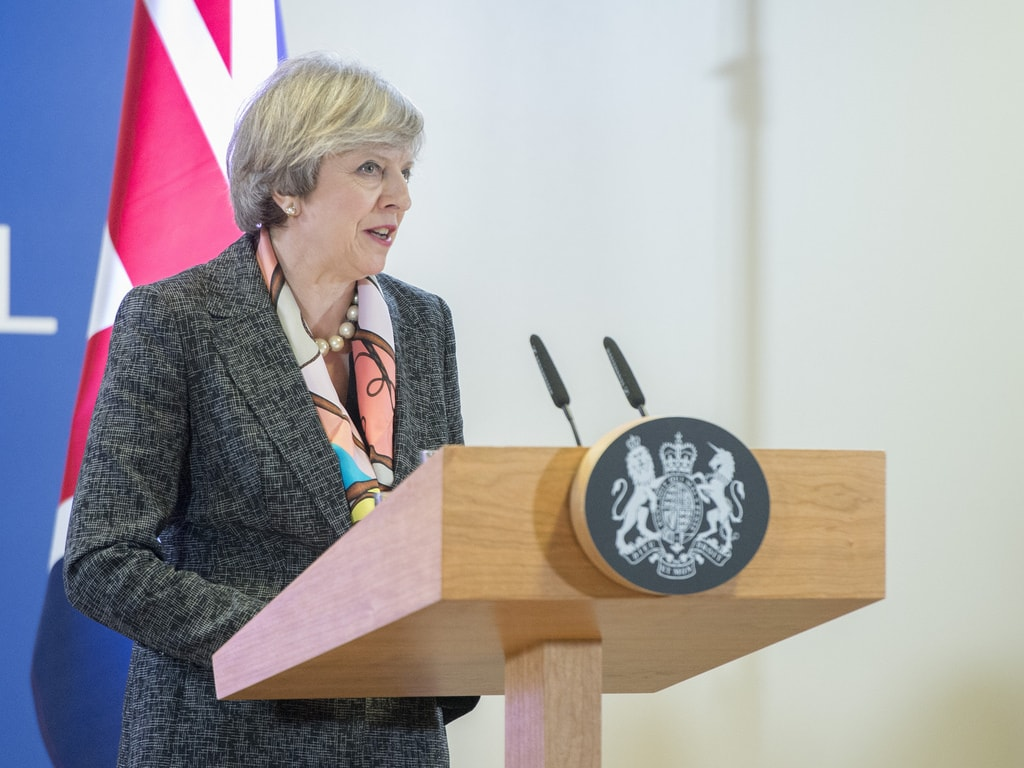 theresa may speaking europe council