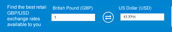Best Pound to Dollar Rate Today Exchange Rate Finder