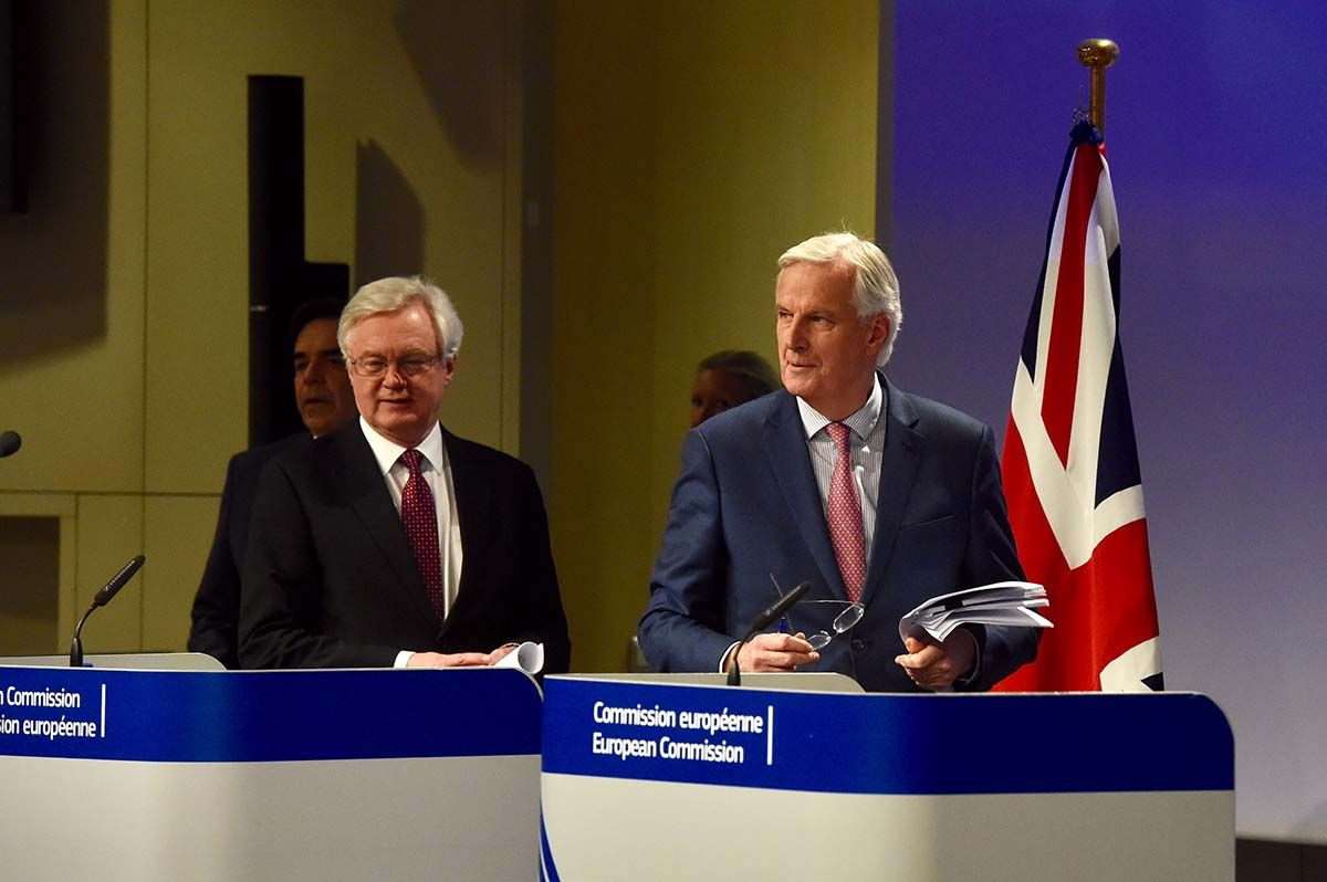 Barnier and David Davis Brexit negotiations