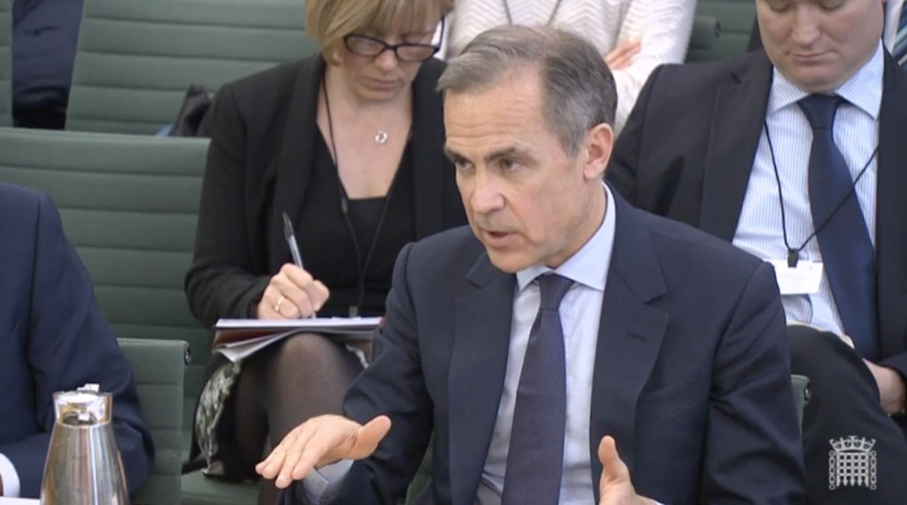 Carney evidence to Treasury Select Committee