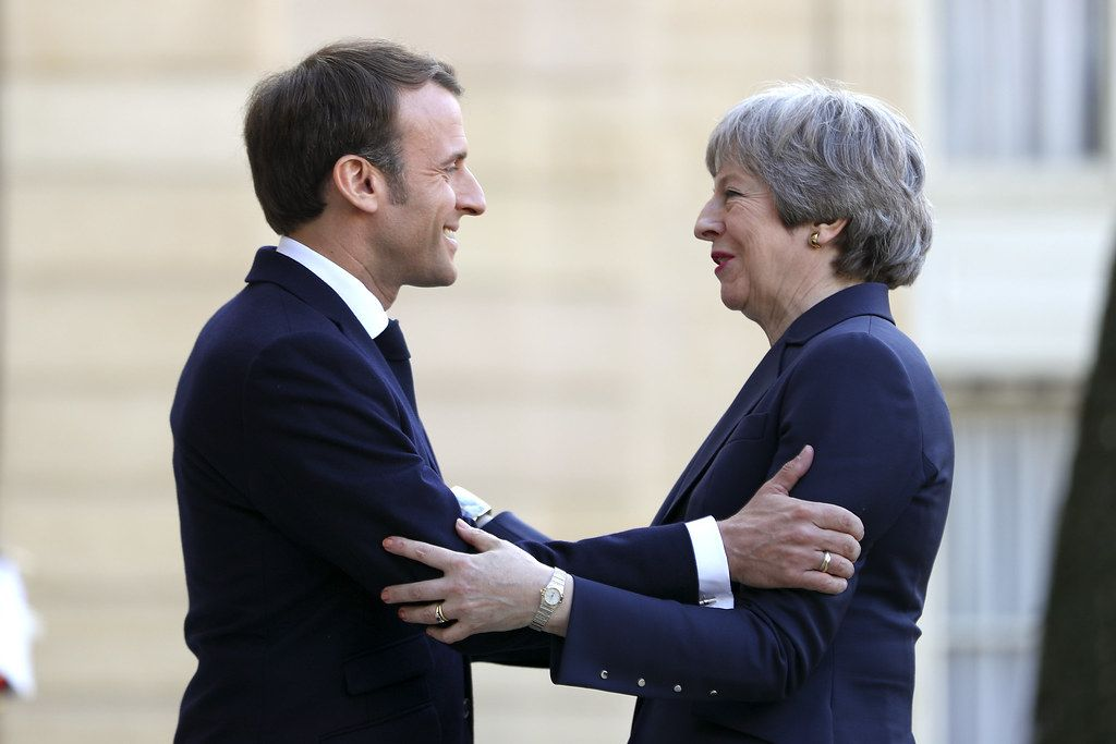 Macron and May meeting
