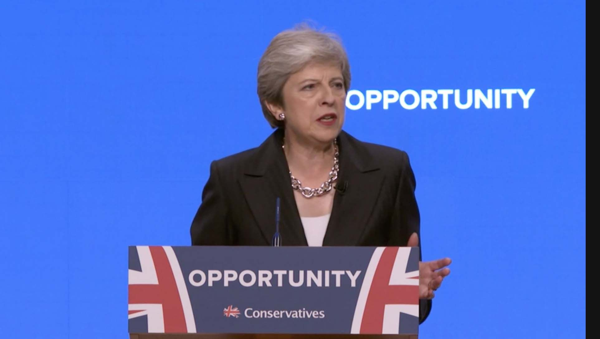 Theresa May's speech dominates the agenda for Sterling today