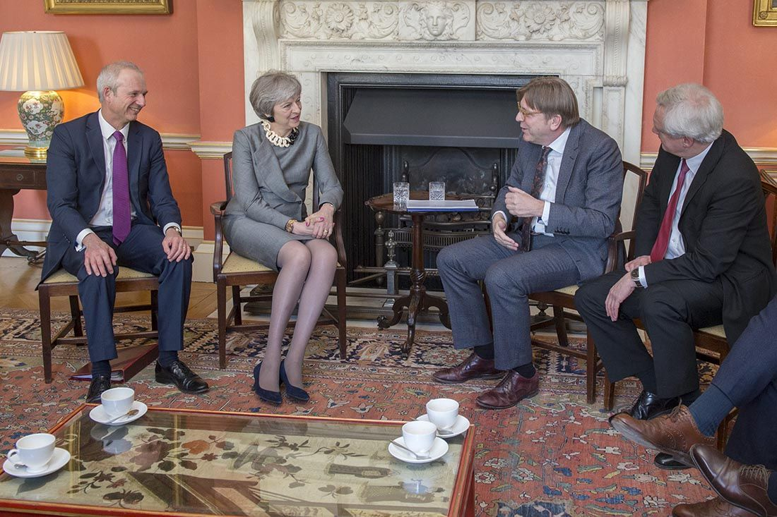 Verhofstadt and May meeting