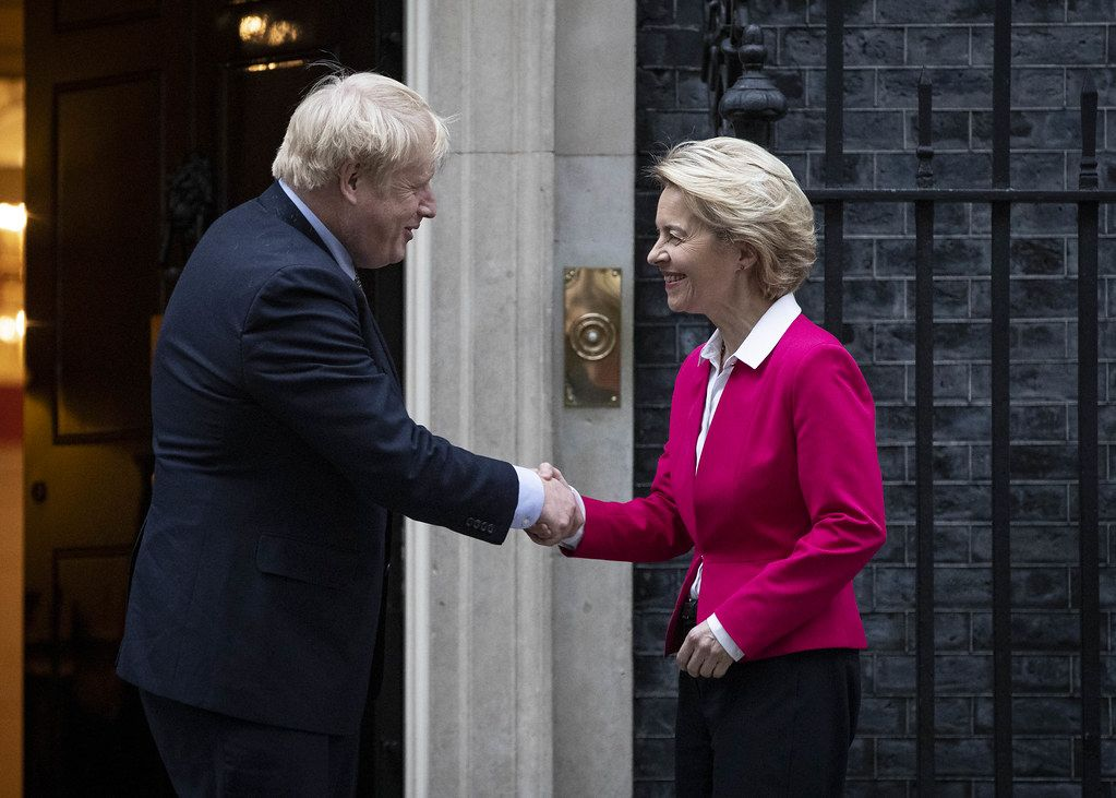 von der Leyen and Johnson Downing Street