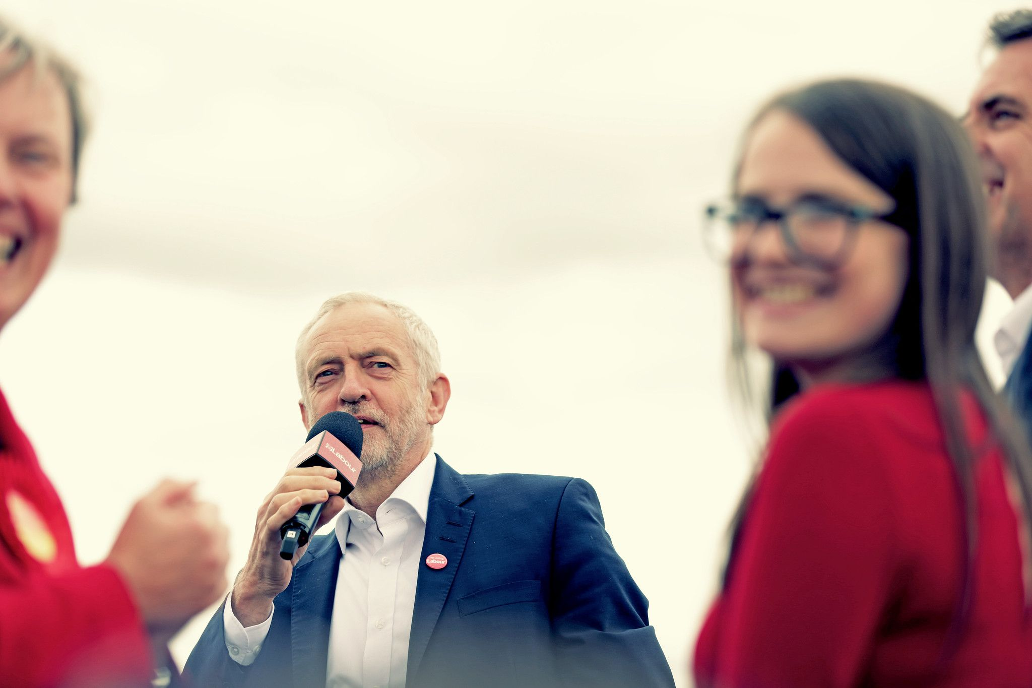 Corbyn at a rally