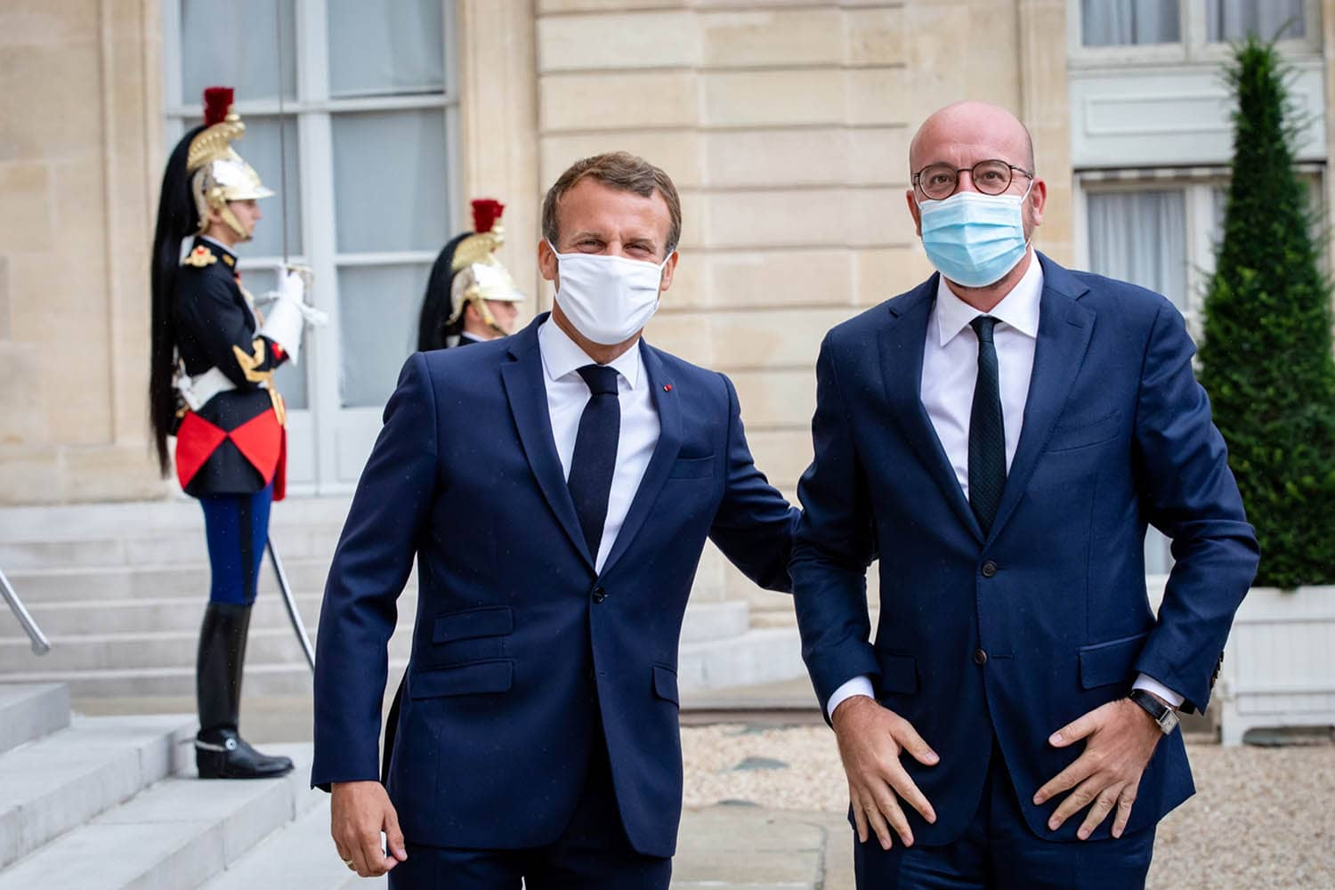 Macron and Michel