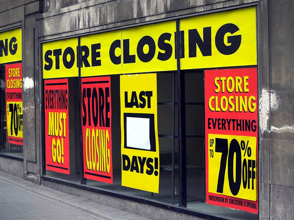 Recession high street closures