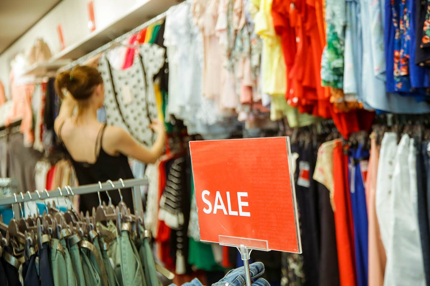 Retail sales clothing